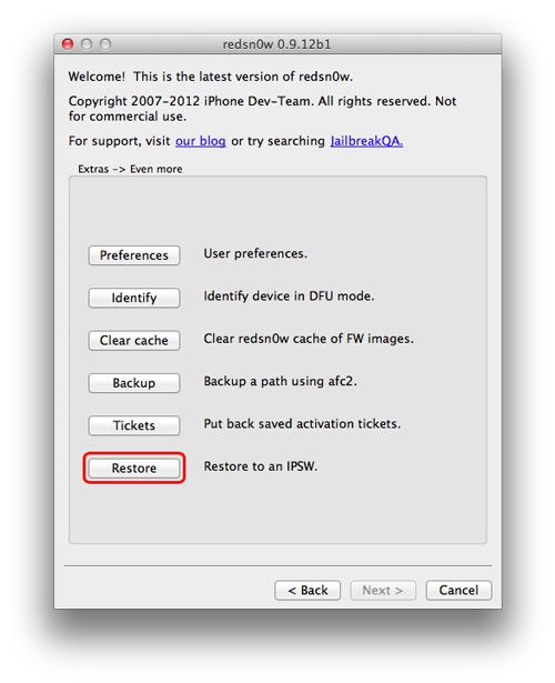 redsn0w restore Tutoriel : Comment mettre son iPhone en mode DFU et faire un Downgrade du firmware