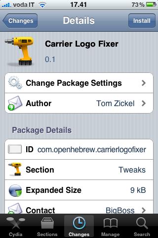 Cydia   Carrier logo fix, remettre le nom de lopérateur sur liPhone