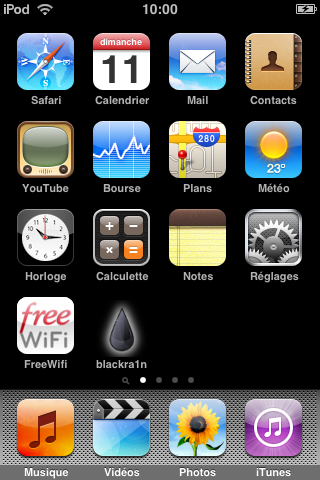 img 0035 Jailbreak 3.1 / 3.1.2   iPhone v1 / iPhone 3G / iPhone 3GS Blackra1n + iTouch 1G / 2 / 3G + tuto vidéo fr