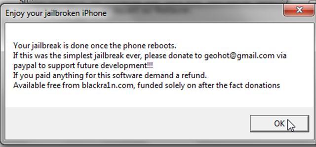 screenshot010 Jailbreak 3.1 / 3.1.2   iPhone v1 / iPhone 3G / iPhone 3GS Blackra1n + iTouch 1G / 2 / 3G + tuto vidéo fr