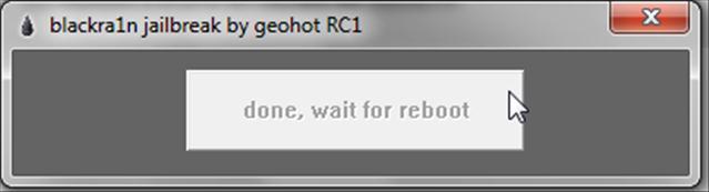 screenshot011 Tutoriel – Jailbreak 3.1.2 Blackra1n RC2 pour Windows