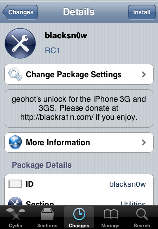 Tutoriel   Désimlockage 05.11.07 Blacksn0w via Cydia