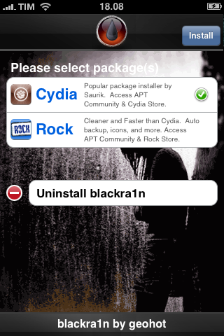 Tutoriel   Jailbreak + Désimlockage iPhone EDGE avec Blackra1n RC