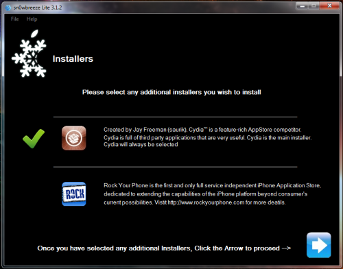 7 500x392 Tutoriel – Jailbreak Sn0wbreeze 1.4 firmware 3.1.3 iPhone v1/3G/3GS et iPod Touch 1G/2G/3G (Windows)