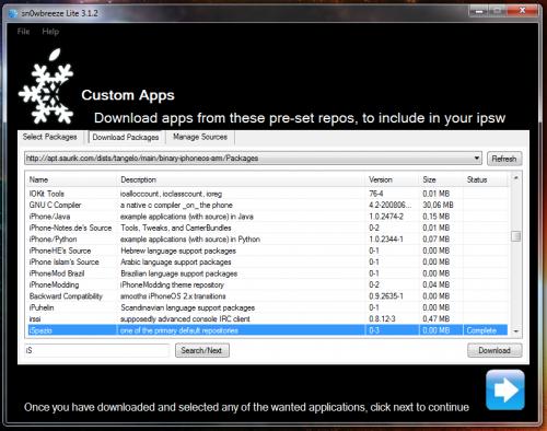 8 500x394 Tutoriel – Jailbreak Sn0wbreeze 1.4 firmware 3.1.3 iPhone v1/3G/3GS et iPod Touch 1G/2G/3G (Windows)