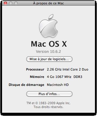 Capture d'écran 2010 01 17 à 15.48.14 Tutoriel   Déterminer la version de votre iBoot sous MAC avec Information Système / System Profiler