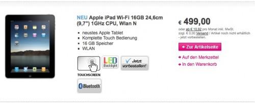 Tarrifs iPad iPad   Tarifs de liPad en Europe daprès T Mobile