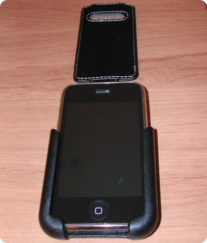 22 Test   Proporta : Etui Cuir Noir pour iPhone 3G / 3GS