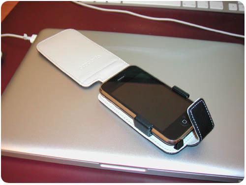 6 Test   Proporta : Housse Simili Cuir Noir / Blanc pour iPhone 3G / 3GS