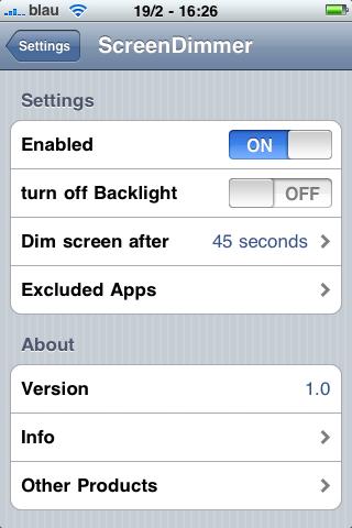IMG1 Cydia   ScreenDimmer : Gestion automatique de la luminosité de lécran