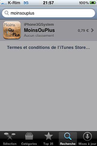 IMG 0881 Jeux   MoinsOuPlus : Enfin disponible sur lAppStore