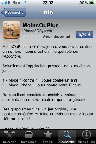 IMG 0882 Jeux   MoinsOuPlus : Enfin disponible sur lAppStore