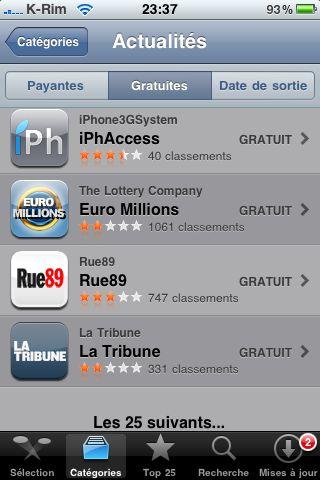 IMG 0906 AppStore   iPhAccess 2.0 est passée dans le Top 25 des App dactualités sur lAppStore