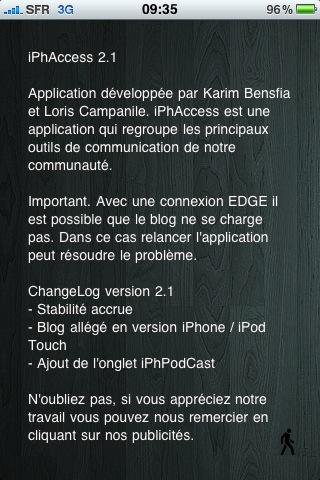 photo7 AppStore   iPhAccess 2.1 enfin validée par Apple