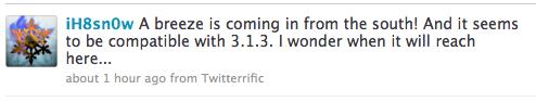 snowbreeze News   iH8sn0w prépare le Jailbreak 3.1.3