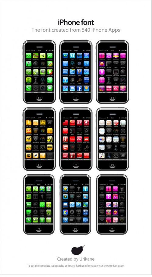 49 49iphone1 500x910 Vidéo   iPhone Font : 540 applications pour écrire lalphabet sur iPhone