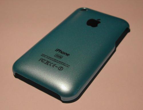 BleueGrandCote 500x384 iPhBoutique   Coques iPhone 3G / 3GS couleurs Or, Bleu, Jaune, Mauve, Orange, Rose et Rouge