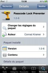 IMG 00101 160x240 Cydia   Passcode Lock Preventer 1.0 6 : Désactiver le compte à rebours du lockscreen