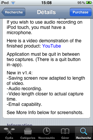 IMG 0012 Cydia   ScreenRecorder passe en version 1.4