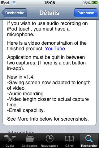 IMG 0012 Cydia   ScreenRecorder mis à jour en version 1.5.1