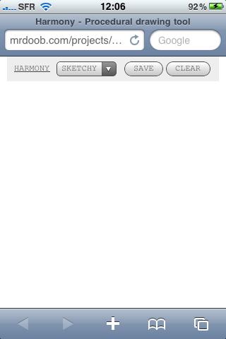 IMG 00261 News   Harmony : Dessinez sous Safari