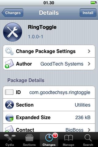 IMG 0041 Cydia   RingToggle : Activer / Désactiver le vibreur sur iPhone