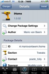 IMG 0443 160x240 Cydia   iHome : Personnaliser vos réglages iPhone