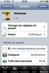 IMG 0953 160x240 Cydia   iNoRotate : Désactiver la rotation en mode paysage