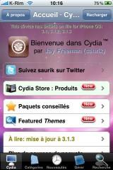 IMG 0983 160x240 Cydia   Thème MAC OS X pour votre un Cydia personnalisé