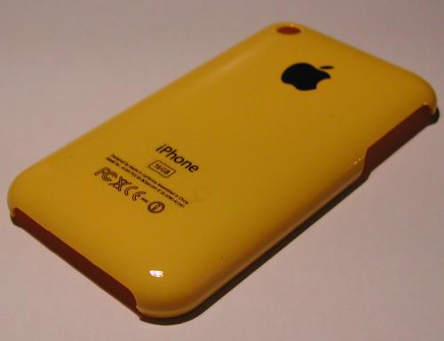 JauneGrandCote 500x384 iPhBoutique   Coques iPhone 3G / 3GS couleurs Or, Bleu, Jaune, Mauve, Orange, Rose et Rouge