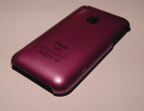 MauvePetitCote iPhBoutique   Coques iPhone 3G / 3GS couleurs Or, Bleu, Jaune, Mauve, Orange, Rose et Rouge