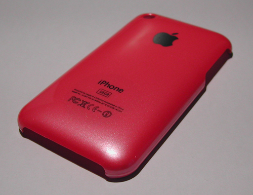 RosePetitCote copie iPhBoutique   Coques iPhone 3G / 3GS couleurs Or, Bleu, Jaune, Mauve, Orange, Rose et Rouge