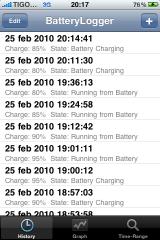 batterylogger2 160x240 Cydia   BatteryLogger : Suivez le comportement de la consommation dénergie sur iPhone et iPod Touch