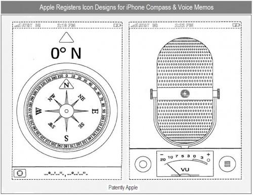 brevet 500x387 News   Apple dépose un brevet sur trois de leurs icônes