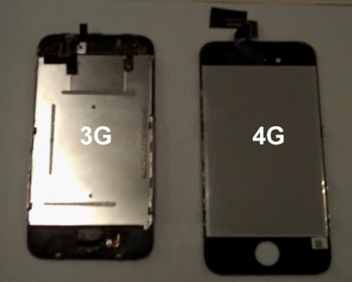 iphone 4g 3g back1 500x401 Vidéo   iPhone 4G : Ecran LCD de liPhone 4G en vidéo ?