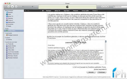 itunes 500x312 News   Modification des conditions dutilisations de lAppStore