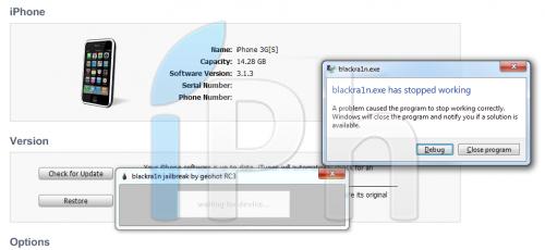 itunes91blackra1n Tutoriel   Blackbreeze : Résoudre le problème dincompatibilité de blackra1n avec iTunes 9.1