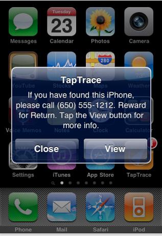 taptrace AppStore   TapTrace : Retrouver gratuitement un Phone perdu ou volé