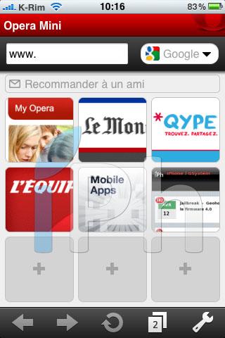 14 AppStore   Opera Mini iPhone : Enfin disponible sur lAppStore [Vidéo]