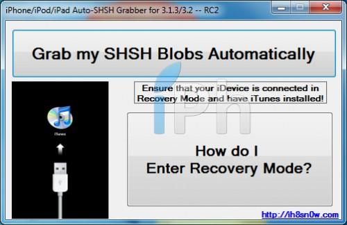1autoshsh1 500x324 Tutoriel   AutoSHSH RC2 : Sauvegarder lECID en firmware 3.1.3 par la team iH8sn0w [Windows]