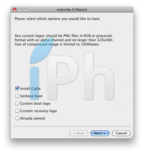 33 Tutoriel   Jailbreak firmware 4.0 bêta 1 via RedSn0w 0.9.5 pour iPhone 3G [MAC]