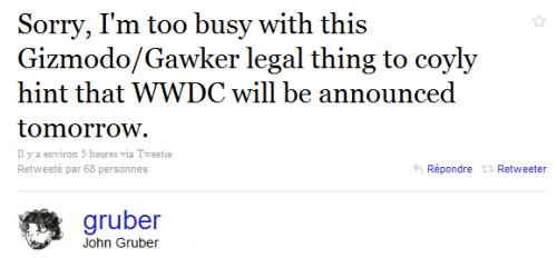 Captujre 500x232 News   La WWDC devrait être annoncée aujourd'hui ou demain