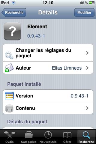 IMG 0022 Cydia   Element : Personnalisez votre LockScreen