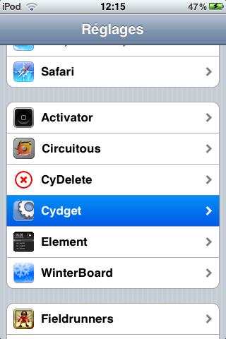 IMG 0025 Cydia   Element : Personnalisez votre LockScreen