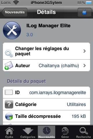 IMG 0035 Cydia   iLog Manager Elite : Gérez facilement votre liste dappels