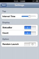 IMG 0805 160x240 Cydia   Tapp 1.0 : Lancer dun tap des applications sur iPhone et iPod Touch