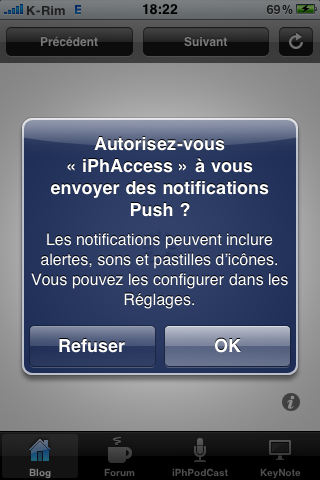 IMG 09491 AppStore   iPhAccess v2.2 : Supporte le Push