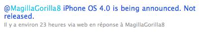 Image 12 Rumeur Jailbreak   iH8sn0w : La team pense que le firmware 4.0 sera uniquement pour les développeurs