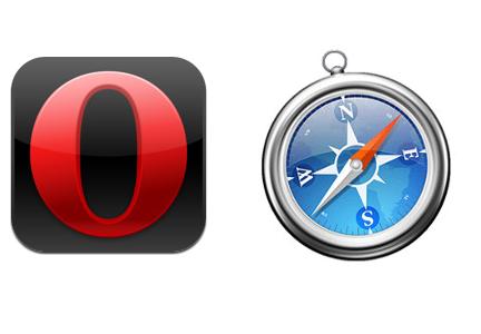 Melablog operamini safari logos Test   Comparaison entre Opera Mini et Safari Mobile sur iPhone