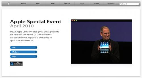 Sans titre 500x276 News   Apple a publié la vidéo de la Keynote sur le Firmware 4.0